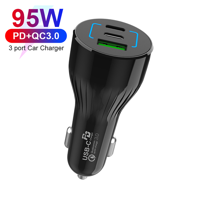 95W Dual PD3.0+ QC3.0 car charger