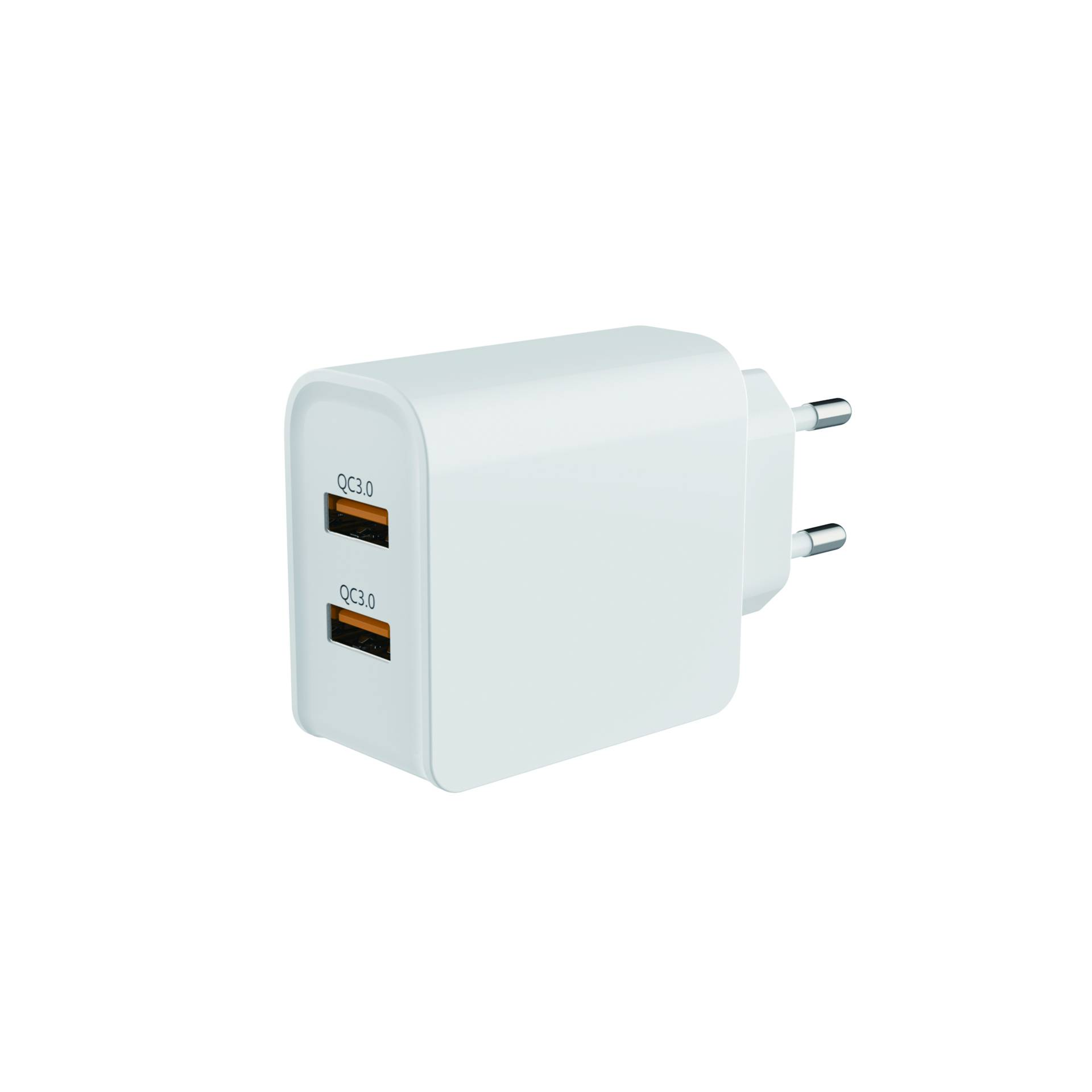 Dual USB 18W QC3.0 Travel Charger for Mobile Phone