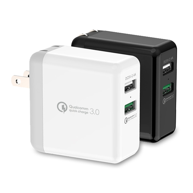 2 Ports 18W QC3.0 USB Travel Charger With US/EU Plug
