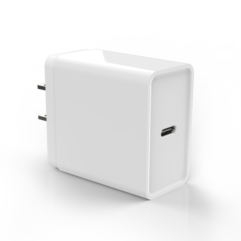 White 18W Quick Charging Type-c PD Charger Android Phone Charger for iPhone