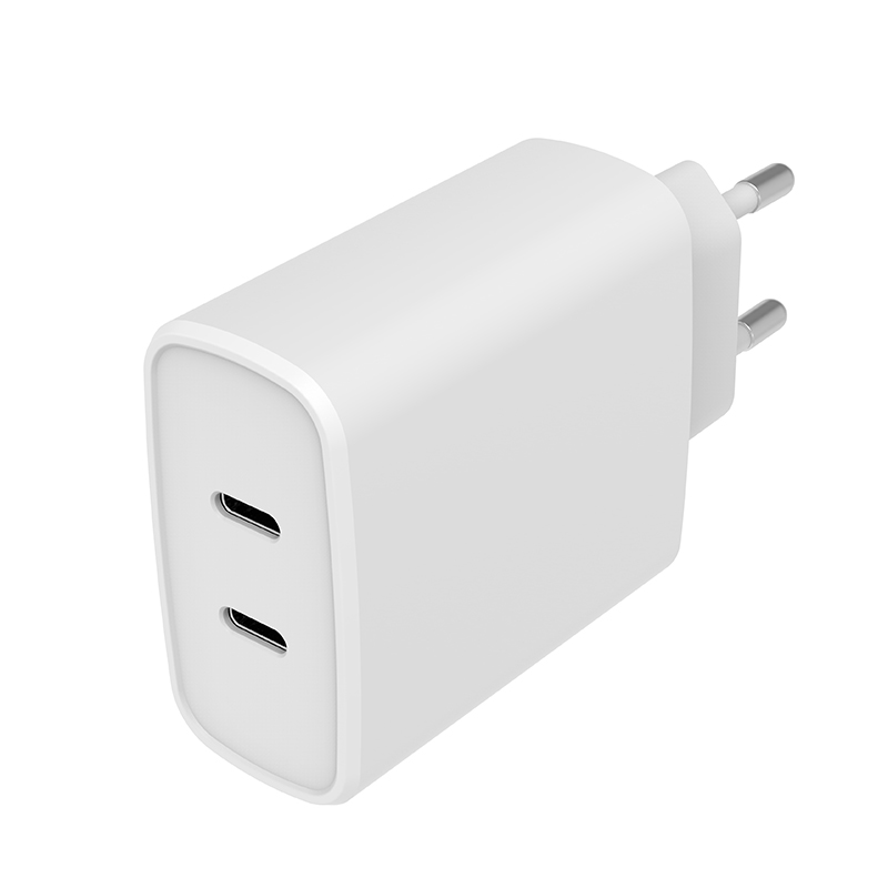 36W Dual USB-C Wall Charger PD Fast Charge Charger for iPhone