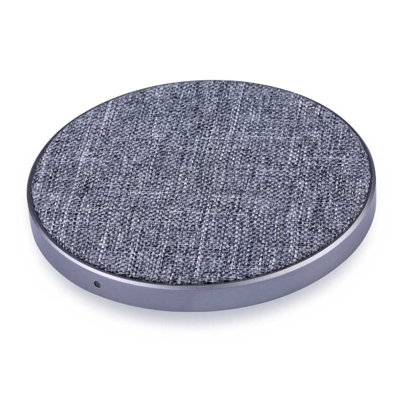 Mobile Phone 10W Wireless Charger Fabric Wireless Qi Charger