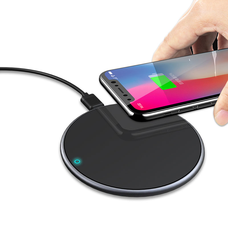 15W Fast Wireless Pad Qi Certified Aluminum Alloy Qi Wireless Charger Receiver
