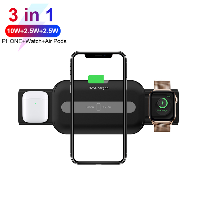 3 in 1 15W Wireless Charger For Mobile Phone/Apple Watch/AirPods