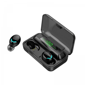 True Noise Cancel Led Digital Light Mini Bluetooth Earphone