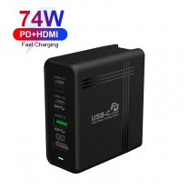 Multifunction 74W PD Charger Combination HD-MI Docking
