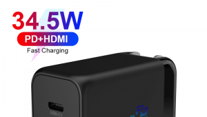 USB-C PD Charger 3 Ports 34.5W With PD+HDMI Function