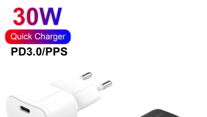 30W Type-C PD Charger Fast Charging USB-C Wall Charger