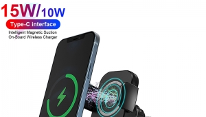 Magnetic Automatic Smart Sensor 15W Car Wireless Charger