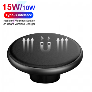 15W Qi Wireless Car Charger For iPhone 12 Xs Max X Xr 8