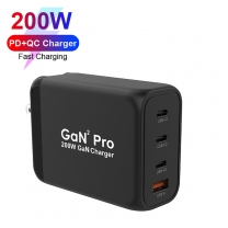 GaN Technology 200W 3C1A PD Wall Charger for MacBook/iPad/Mobile Phone