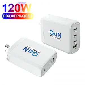 120W PD GaN Charger 4 Ports USB C Charger For Laptop MacBook